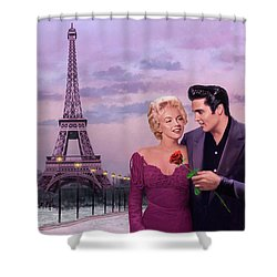 Paris Sunset Shower Curtain by Chris Consani