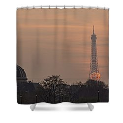 Paris Sunset II Shower Curtain