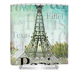 Paris Texas Style Shower Curtain
