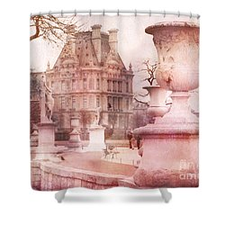 Paris Tuileries Park Garden - Jardin Des Tuileries Garden - Paris Tuileries Louvre Garden Sculpture Shower Curtain by Kathy Fornal