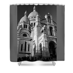 Paris Visit To Sacre Coeur Cathedral Shower Curtain