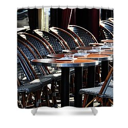 Parisian Cafe Terrace Shower Curtain