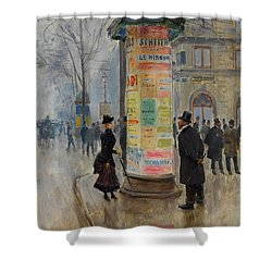 Shower Curtain featuring the photograph Parisian Street Scene by John Stephens
