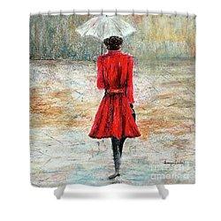 Parisian Stroll Shower Curtain