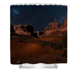 Shower Curtain featuring the photograph Park Avenue Trailhead by James Bethanis