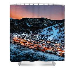 Park City Winter Sunset Shower Curtain