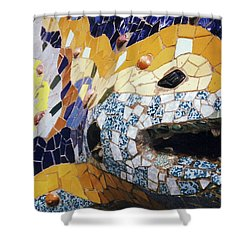 Park Guell, Barcelona No. 2-1 Shower Curtain