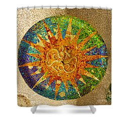 park Guell, Barcelona, Spain Shower Curtain by Anastasy Yarmolovich