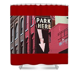 Shower Curtain featuring the photograph Park Here  by Christopher Woods