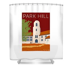 Park Hill Maroon Shower Curtain
