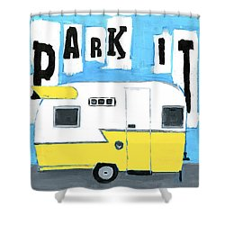 Park It-yellow Shower Curtain