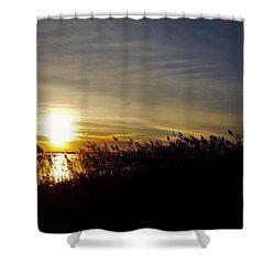 Park Sunset 3 Shower Curtain