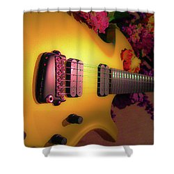 Parker Fly Guitar Hover Series Shower Curtain