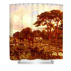 Parker Henry H The End Of The Day Shower Curtain