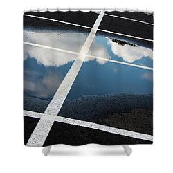 Parking Spaces For Clouds Shower Curtain by Gary Slawsky