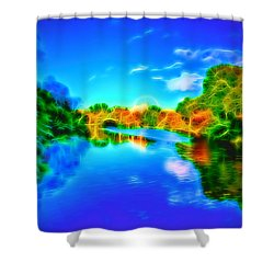 Parkland Symphony Shower Curtain by Andreas Thust