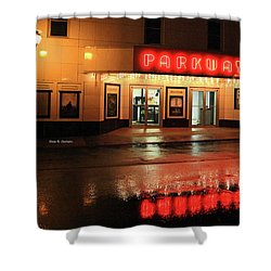Parkway Night Shower Curtain by Dale R Carlson