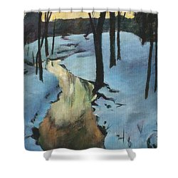 Parlee Farm Sunset Creek Shower Curtain by Claire Gagnon