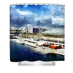 Shower Curtain featuring the photograph Parque Das Nacoes by Dariusz Gudowicz
