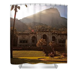 Parque De Lague Shower Curtain by Mark Nowoslawski