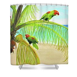 Parrot Beach Shower Curtain