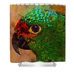 Parrote Shower Curtain