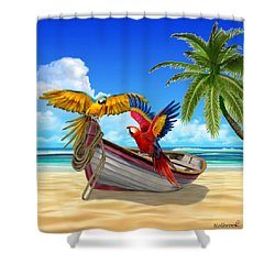 Parrots Of The Caribbean Shower Curtain