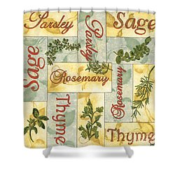 Parsley Collage Shower Curtain