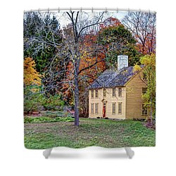 Parson Barnard House In Autumn Shower Curtain