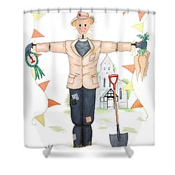 Parson Scarecrow Shower Curtain by Sandra Moore