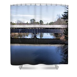 Parsonfield Porter Covered Bridge Shower Curtain