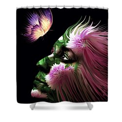 Part Of Me Shower Curtain by Jenn Teel
