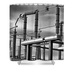 Part Of The Grid Shower Curtain by Bob Orsillo