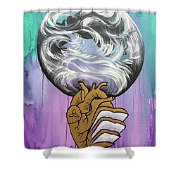 Shower Curtain featuring the painting Partakers Of His Heart by Nathan Rhoads