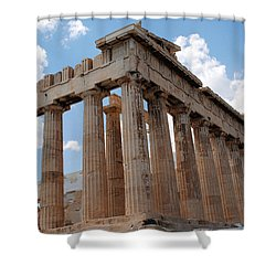 Parthenon Side View Shower Curtain