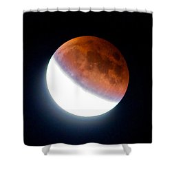 Partial Super Moon Lunar Eclipse Shower Curtain