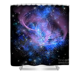Particle Fountain Shower Curtain by Corey Ford