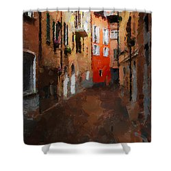 Parting Shower Curtain