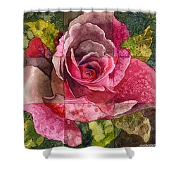 Partitioned Rose IIi Shower Curtain