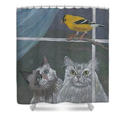 Partners In Crime Shower Curtain