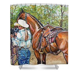 Partners Shower Curtain by Stephanie Come-Ryker