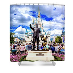 Partners Two Shower Curtain by Greg Fortier