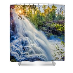 Shower Curtain featuring the photograph Partridge Falls In Late Afternoon by Rikk Flohr