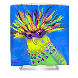Party Animal Shower Curtain by Jean Pacheco Ravinski