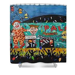 Shower Curtain featuring the painting Party At The Palace by Patricia Arroyo