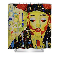 Party Girl Shower Curtain by Cynthia Powell