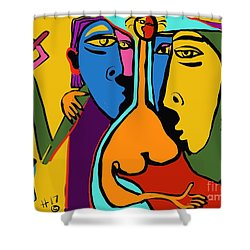 Party Girl Shower Curtain by Hans Magden