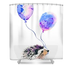 Party Hedgehog Shower Curtain