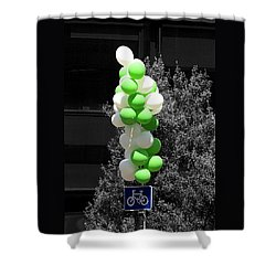 Party - On Yer Bike Shower Curtain by Hazy Apple