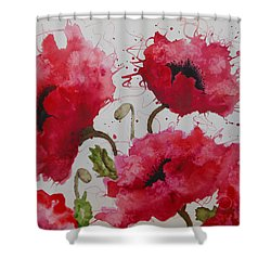 Party Poppies Shower Curtain by Karen Kennedy Chatham